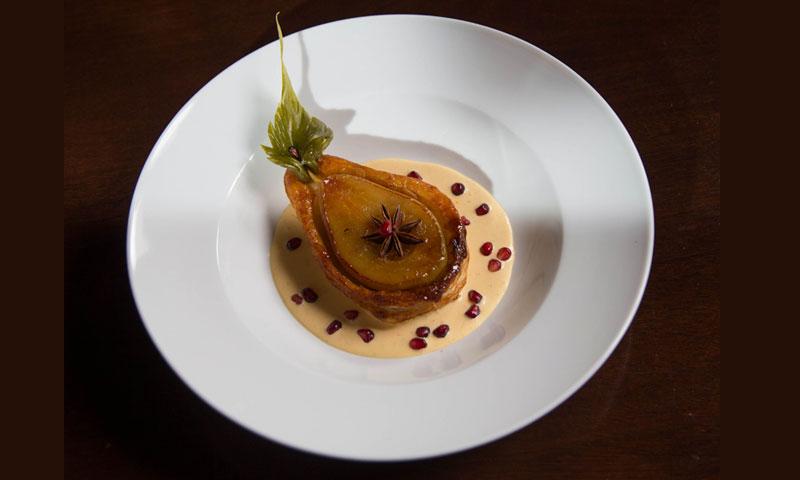 pear-plated-dessert